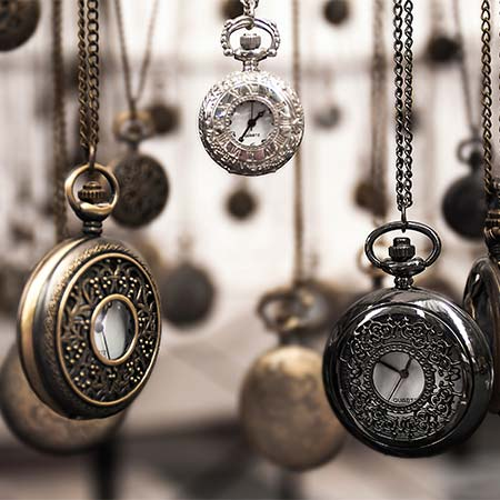 antique watches on chains