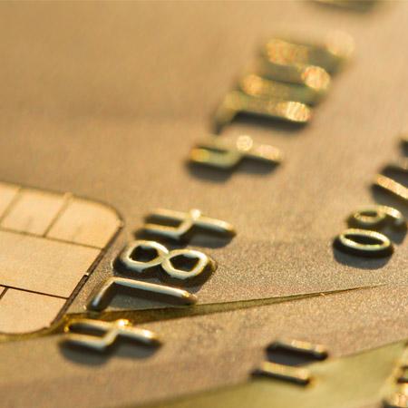 close up of a credit card